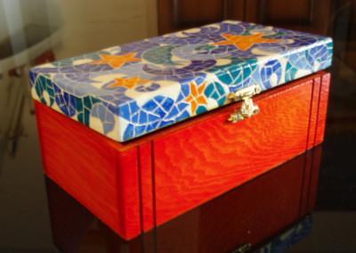 Falso mosaico en caja